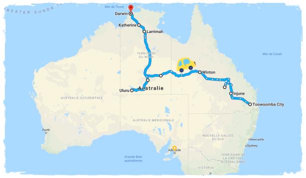 Itinéraire Road Trip QLD NT